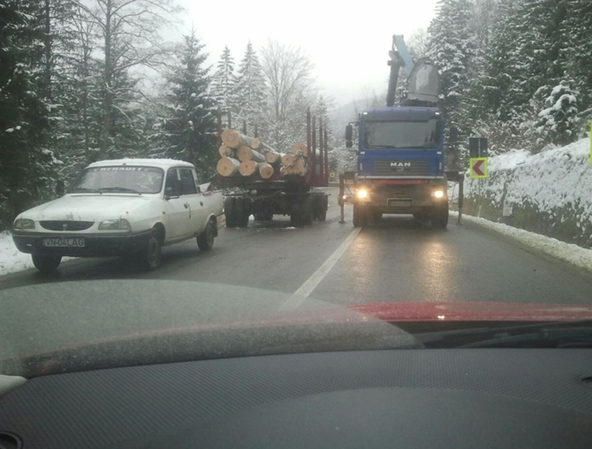 CULMEA TUPEULUI! Drumul Național 2D Focşani – Tulnici – Ojdula – Tîrgu Secuiesc, BLOCAT de toporatori